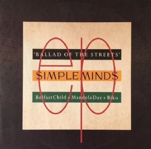 "Simple Minds ‎- Ballad Of The Streets EP (12"") (EX-/EX-)"